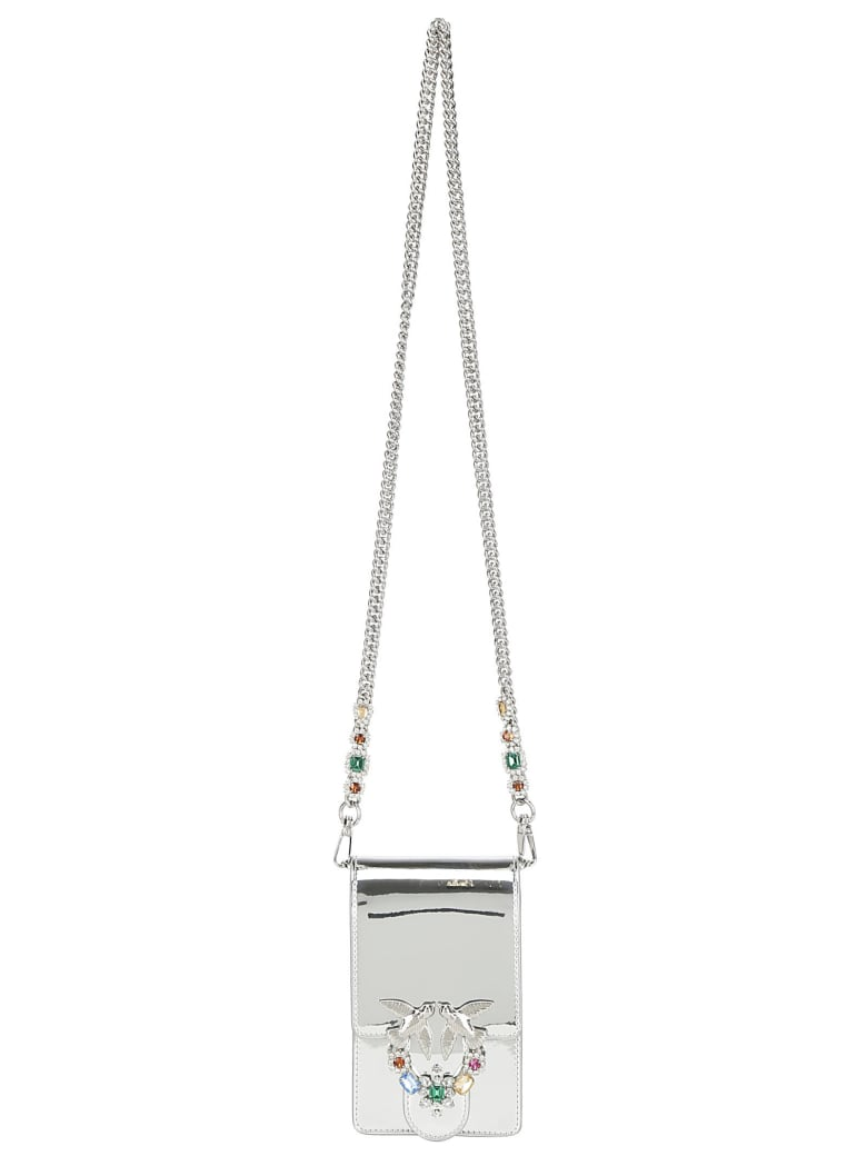 Pinko Love Smart Wallet - Silver