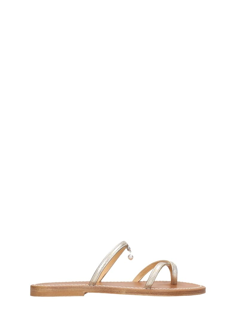 K.Jacques Marnie  Flats In Gold Leather - gold