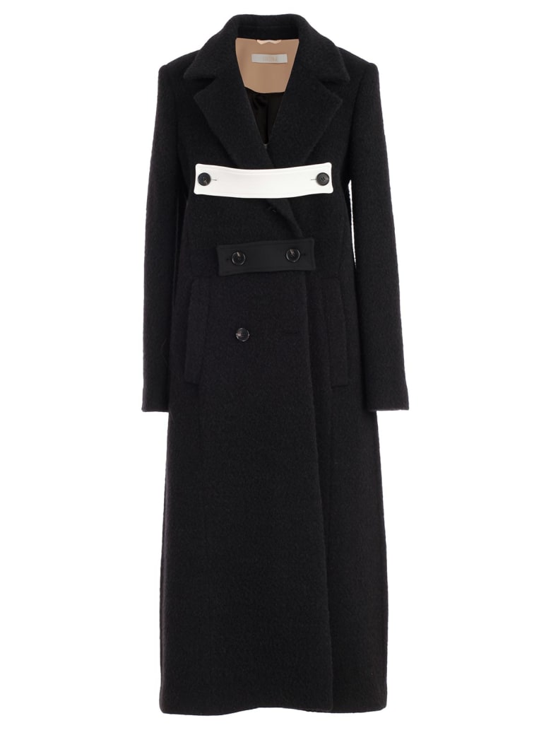 SSHEENA Coat Double Breasted Alpaca - Black