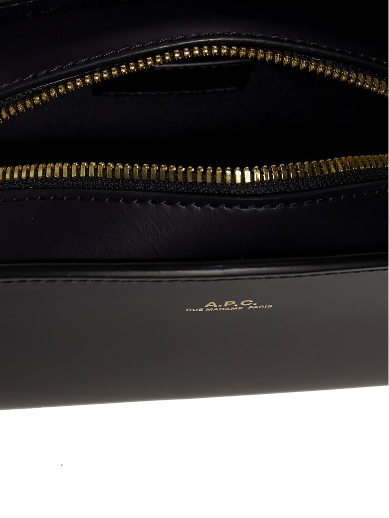 A.P.C. Half-moon Mini Leather Shoulder Bag - BLUE