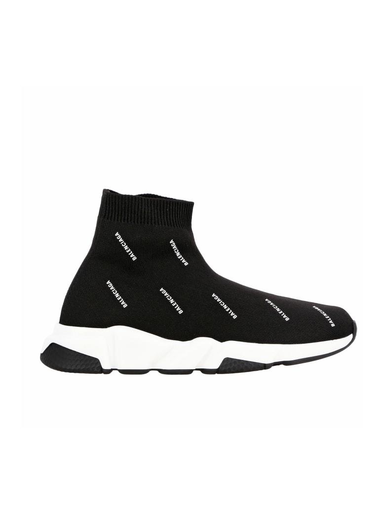 Balenciaga Speed Printed Sneakers - Black/white/black
