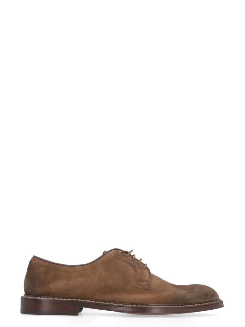 Doucal's Suede Lace-up Shoes - brown