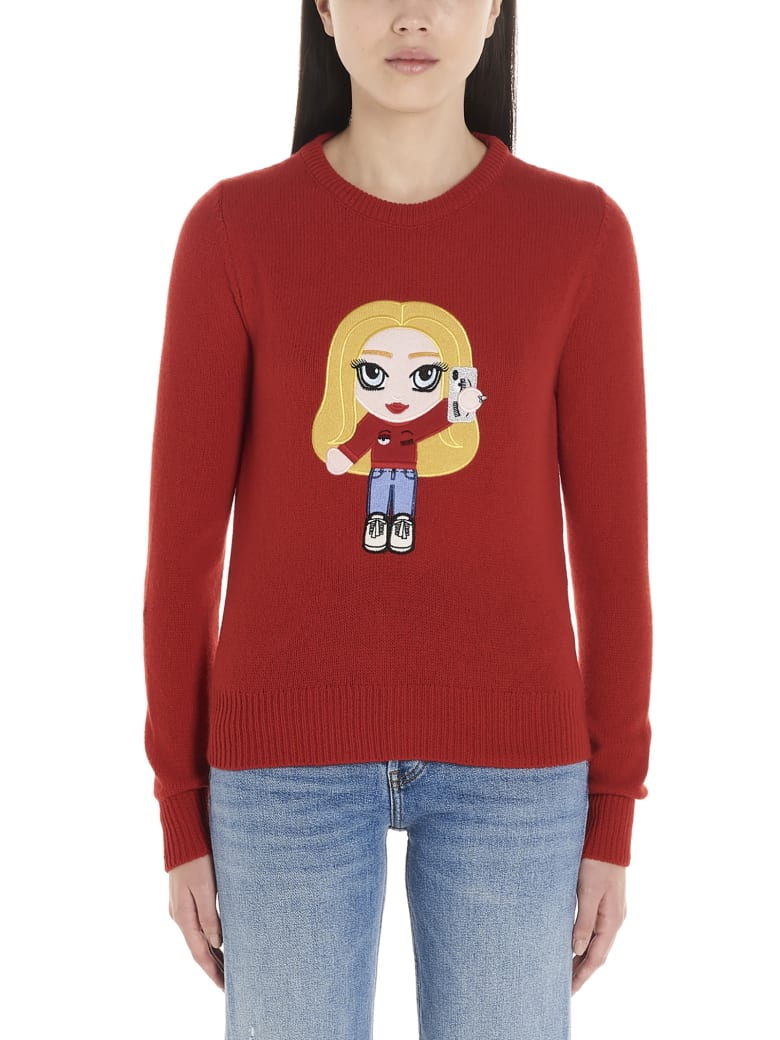 Chiara Ferragni 'cf Mascotte' Sweater - Red