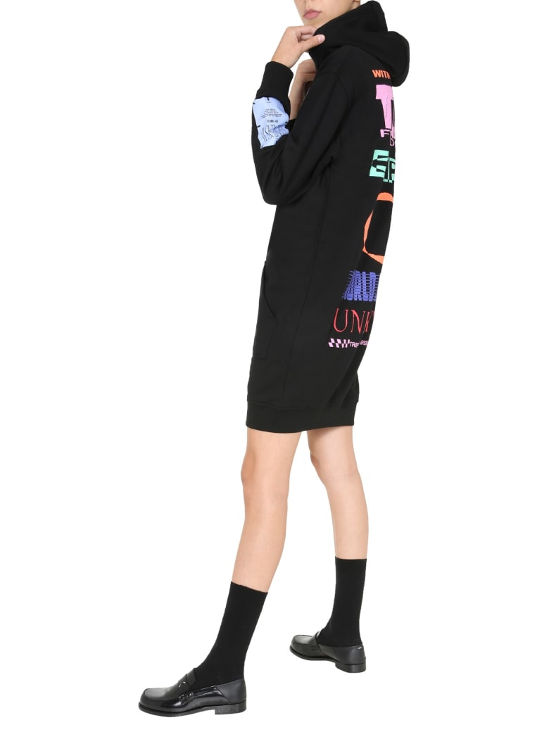 McQ Alexander McQueen Hooded Dress - NERO