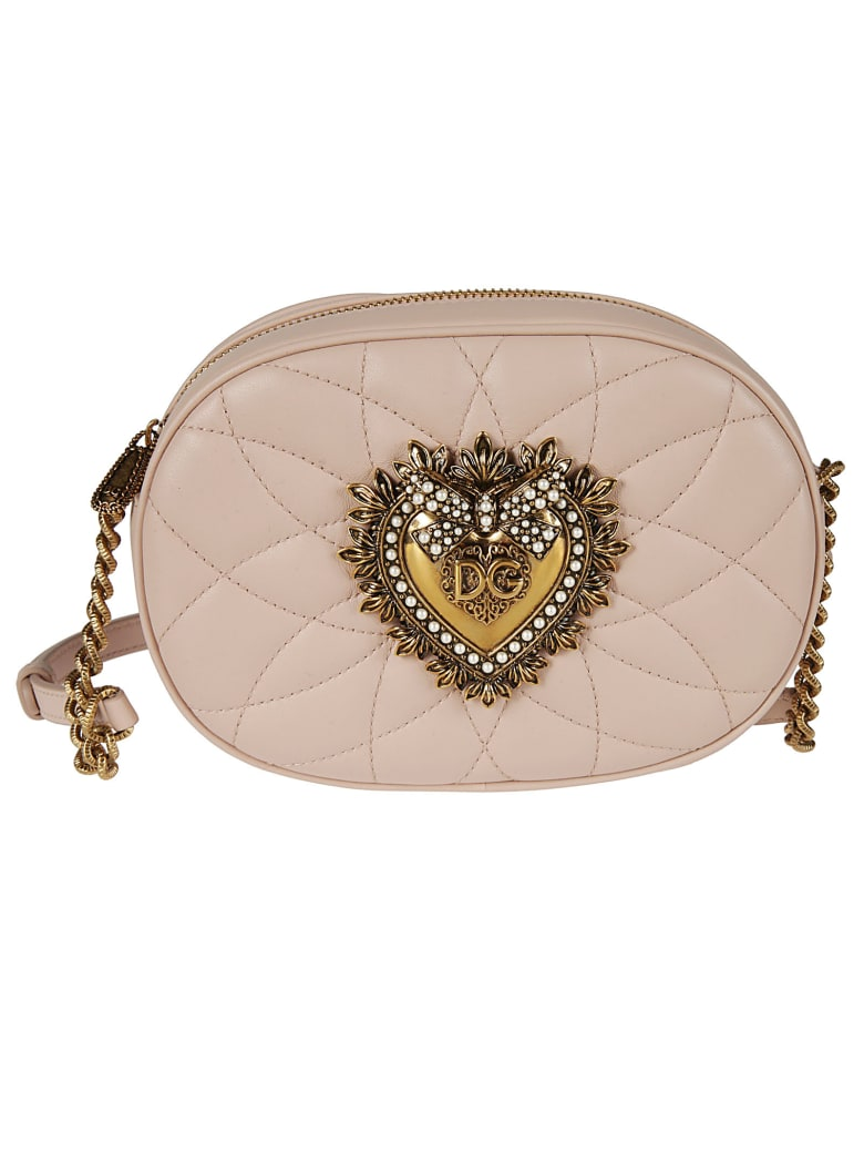 Dolce & Gabbana Heart Casual Style Chain Shoulder Bag - powder