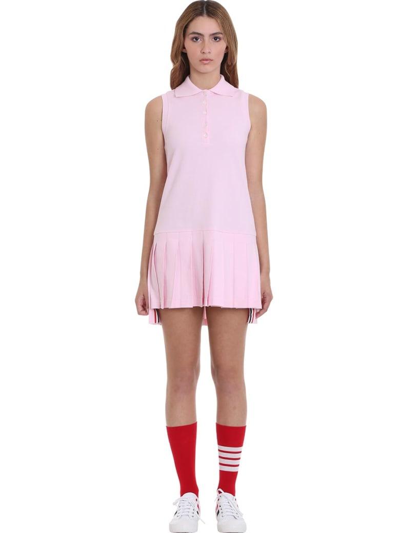 Thom Browne Dress In Rose-pink Cotton - rose-pink
