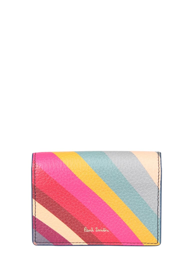 Paul Smith Leather Card Holder - MULTICOLOR