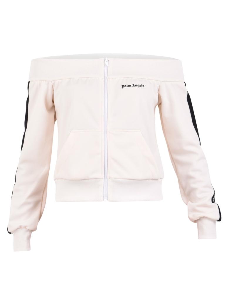 Palm Angels Branded Sweatshirt - White