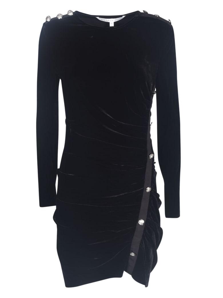 Veronica Beard Button Embellished Dress - Black