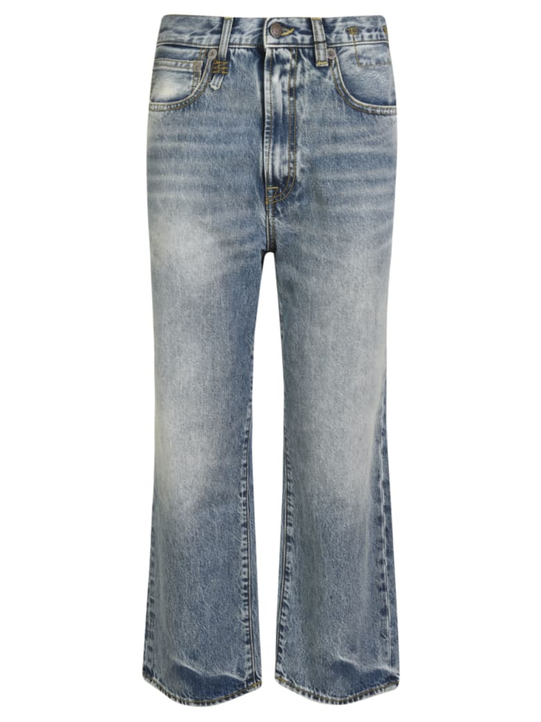 R13 Royer Cropped Jeans - Blue