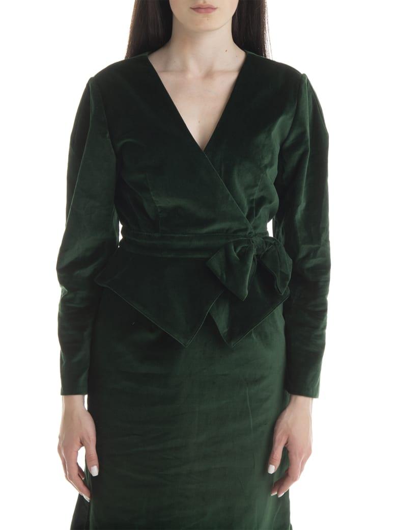 Batsheva Bow Suit Jacket - Forest Velvet