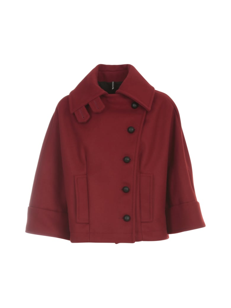PierAntonioGaspari Short High Neck Jacket - Rosso
