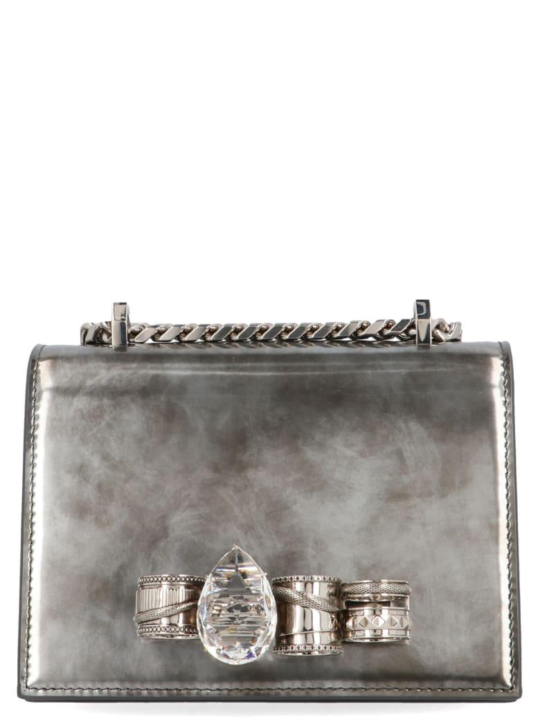 Alexander McQueen 'jewelled Satchel' Bag - Silver