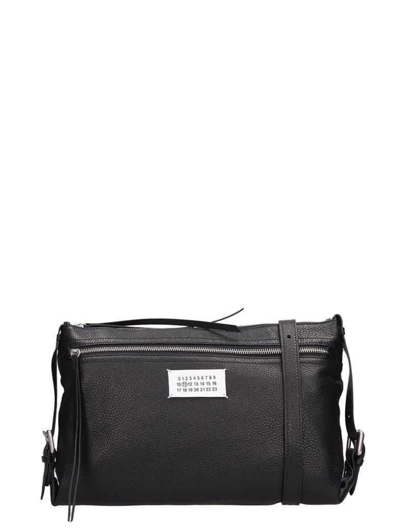 Maison Margiela Black Leather Clutch Bag - black