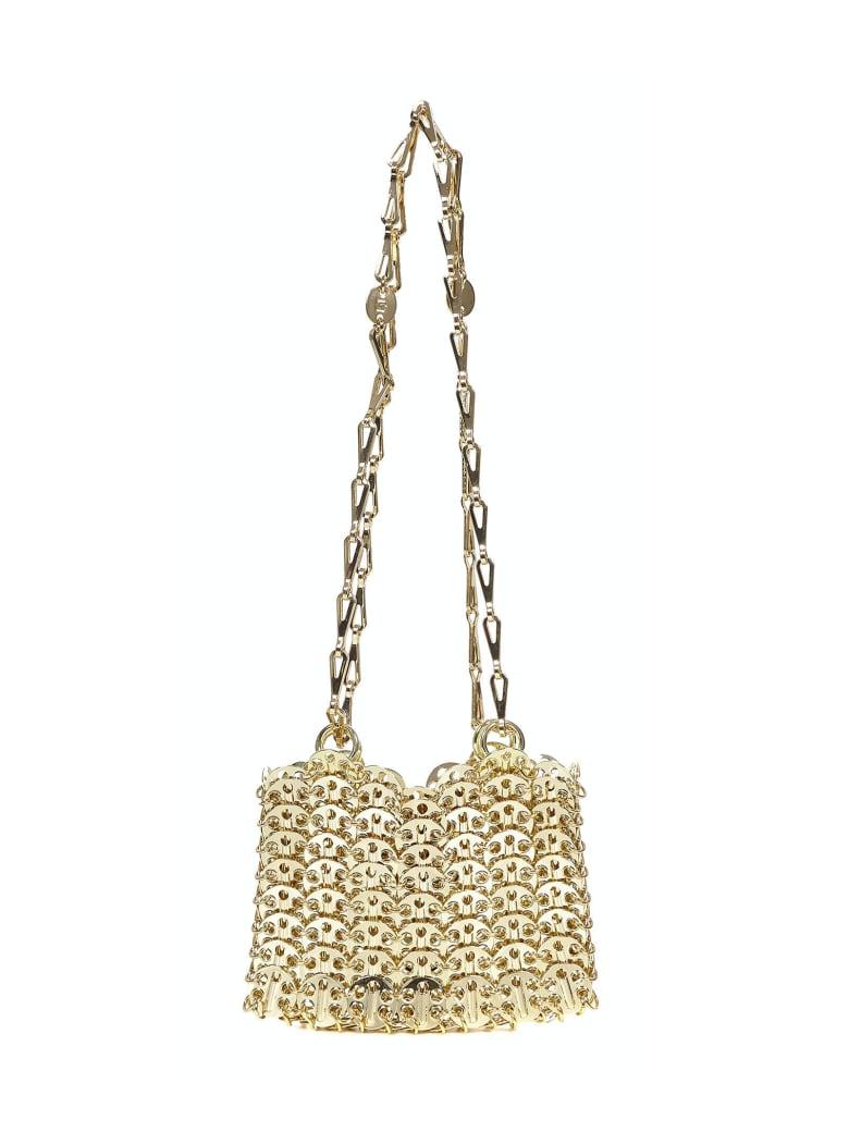 Paco Rabanne Iconic 1969 Nano  Shoulder Bag - Gold