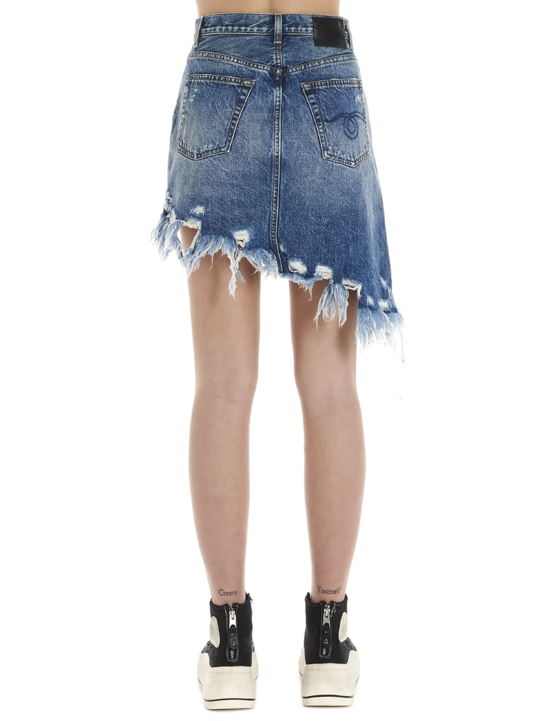 R13 'asymmetrical' Skirt - Blue