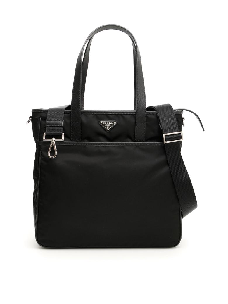Prada Nylon And Saffiano Travel Bag - NERO (Black)