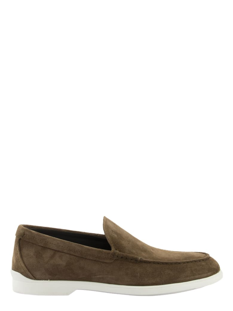 Tod's Loafers In Suede - Brown