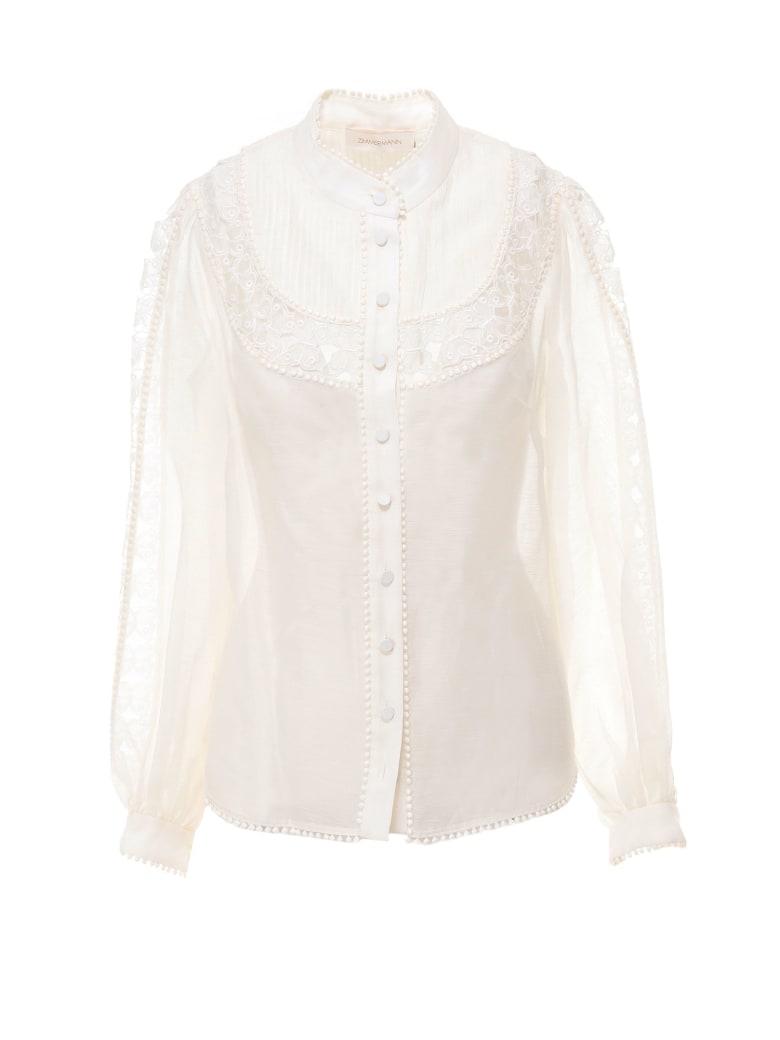 Zimmermann Super Eight Butterfly Shirt - Beige