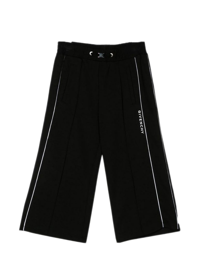 Givenchy Black Cotton Blend Trouser - Nero