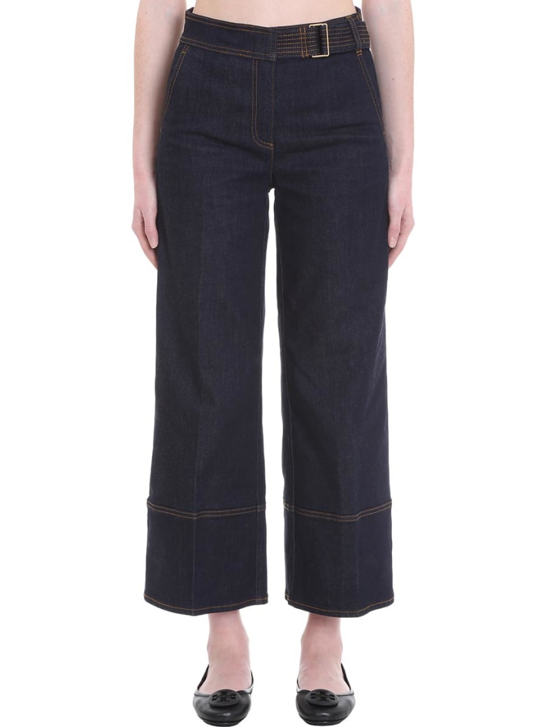 Tory Burch Jeans In Blue Denim - blue