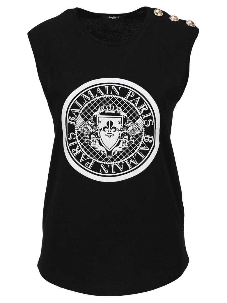 Balmain Balmain Medallion Print T-shirt - BLACK