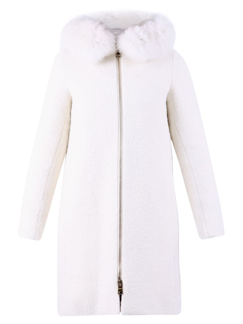 Herno Virgin Wool Blend Coat - White
