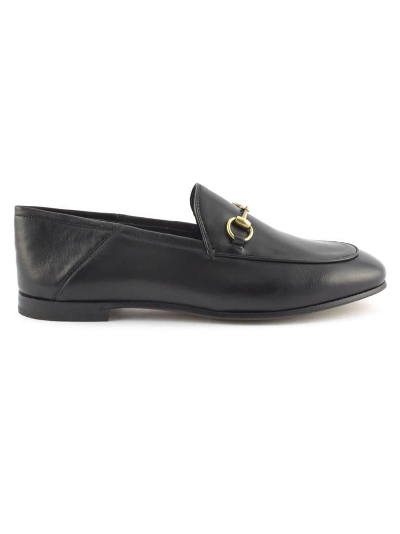 Gucci Black Leather Loafer - Nero