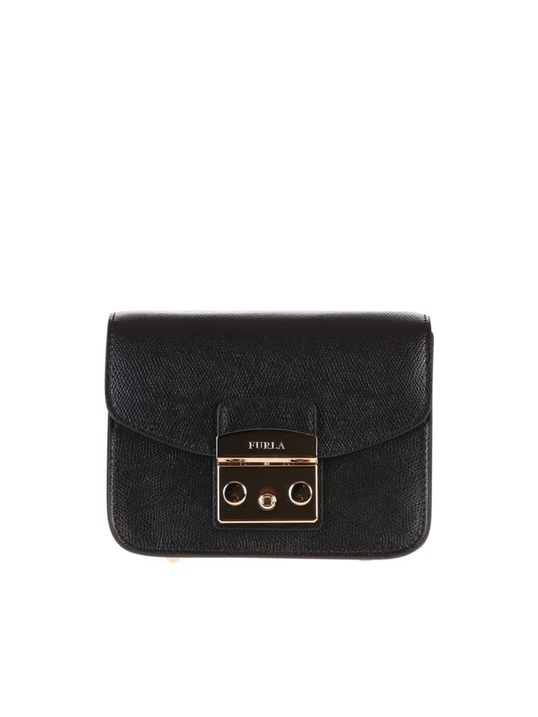 Furla Metropolis Mini Crossbody Bag - Black