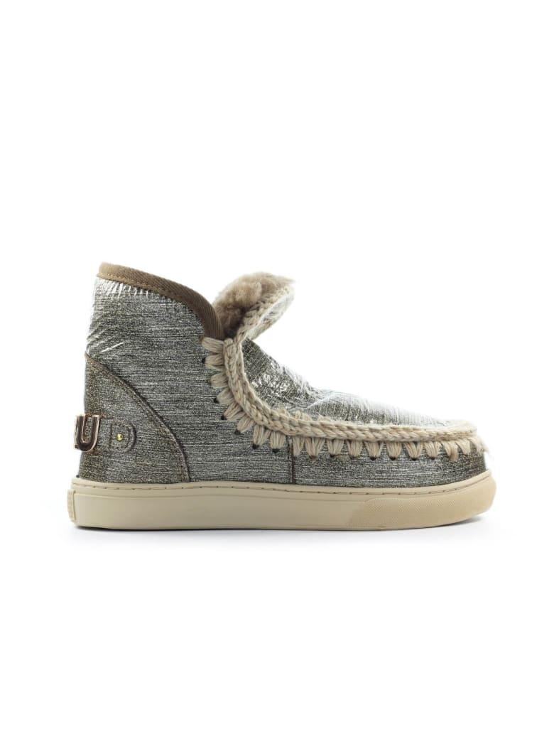 Mou Eskimo Big Metal Logo Grey Glitter Sneaker - Grigio (Grey)