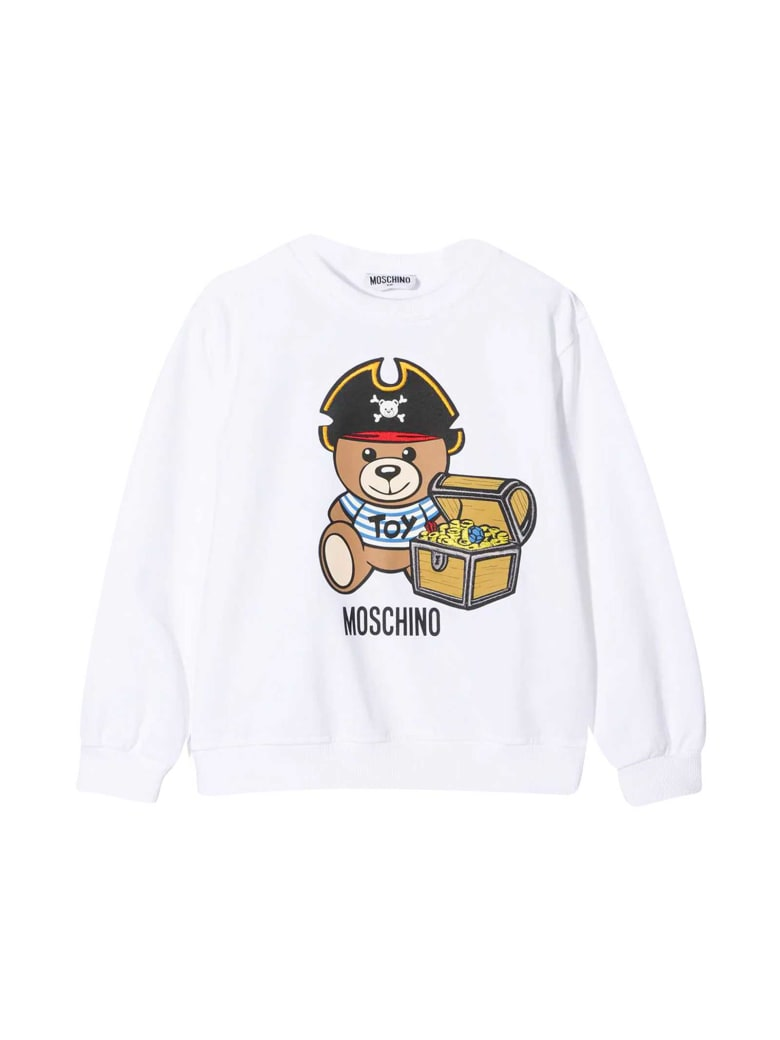 Moschino White Sweatshirt With Toy Print - Bianco