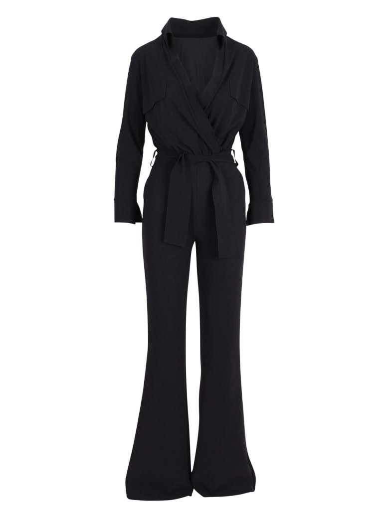 La Petit Robe Di Chiara Boni Le Petite Robe Di Chiara Boni 'tierra' Polyamide Jumpsuit - Black