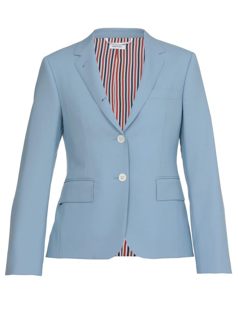 Thom Browne Single-breasted Jacket - LIGHT BLUE