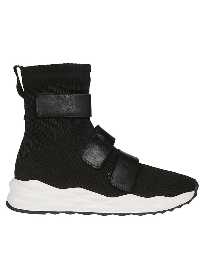 Ash Touch Strap Sneakers - Black