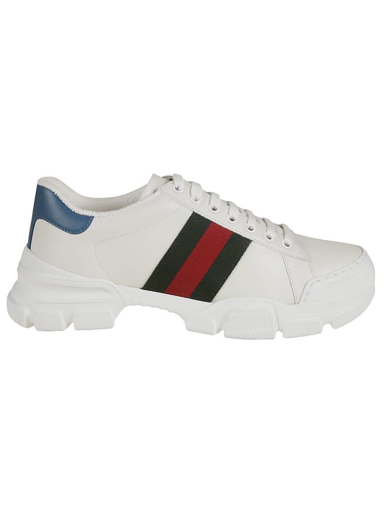 Gucci Web Stripe Detail Sneakers - White