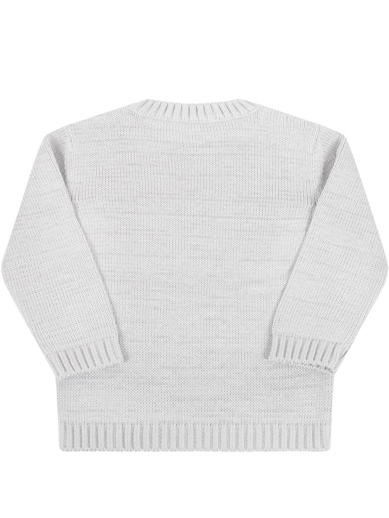 Little Bear Gray Sweater For Baby Boy - Grey