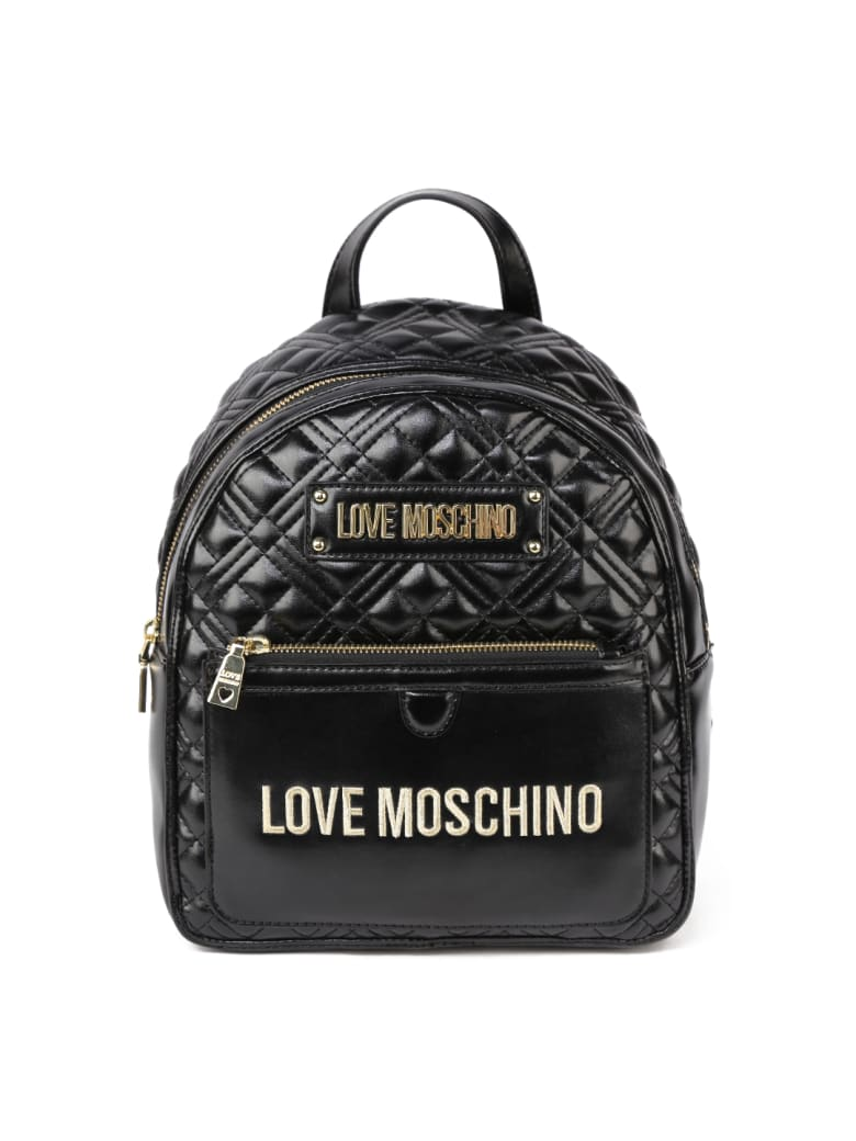 Love Moschino Black Love Moschino Quilted Backpack - Black