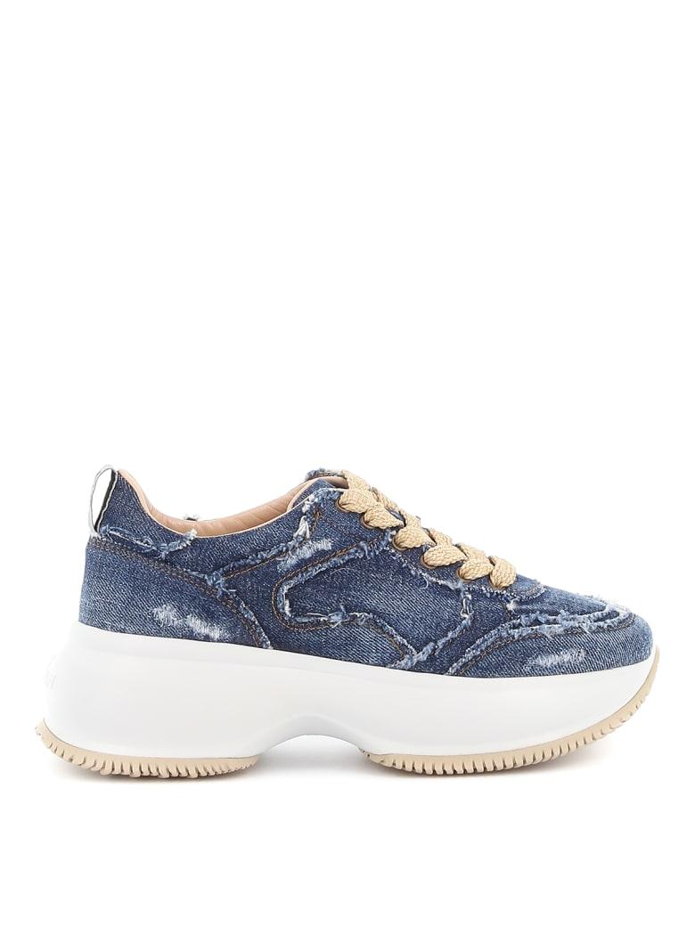 Hogan Laced Shoes - Blue jeans