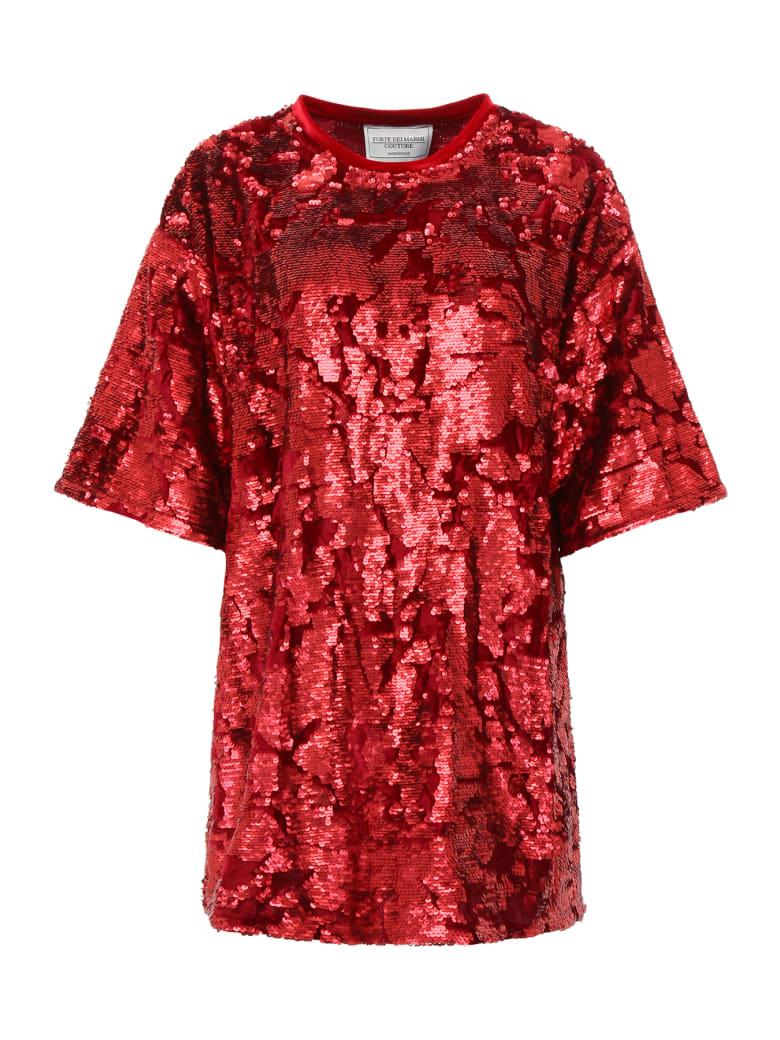 Forte Couture Sequins Mini Dress - RED (Red)