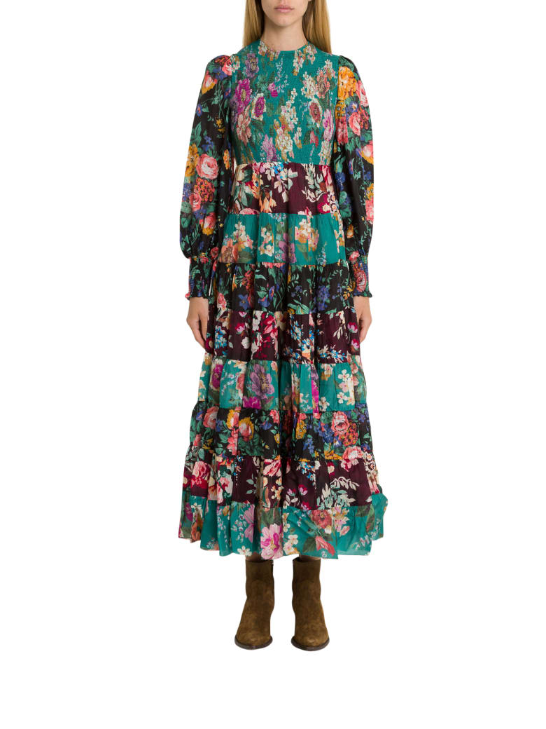 Zimmermann Allia Floral-print Silk-chiffon Maxi Dress - Multicolor