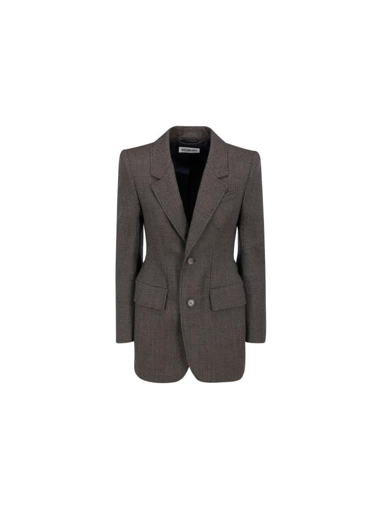 Balenciaga Jacket - Brown/marine blue