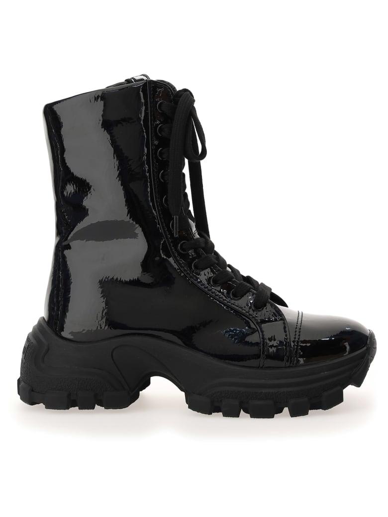 Miu Miu Lace-up Boots - Nero