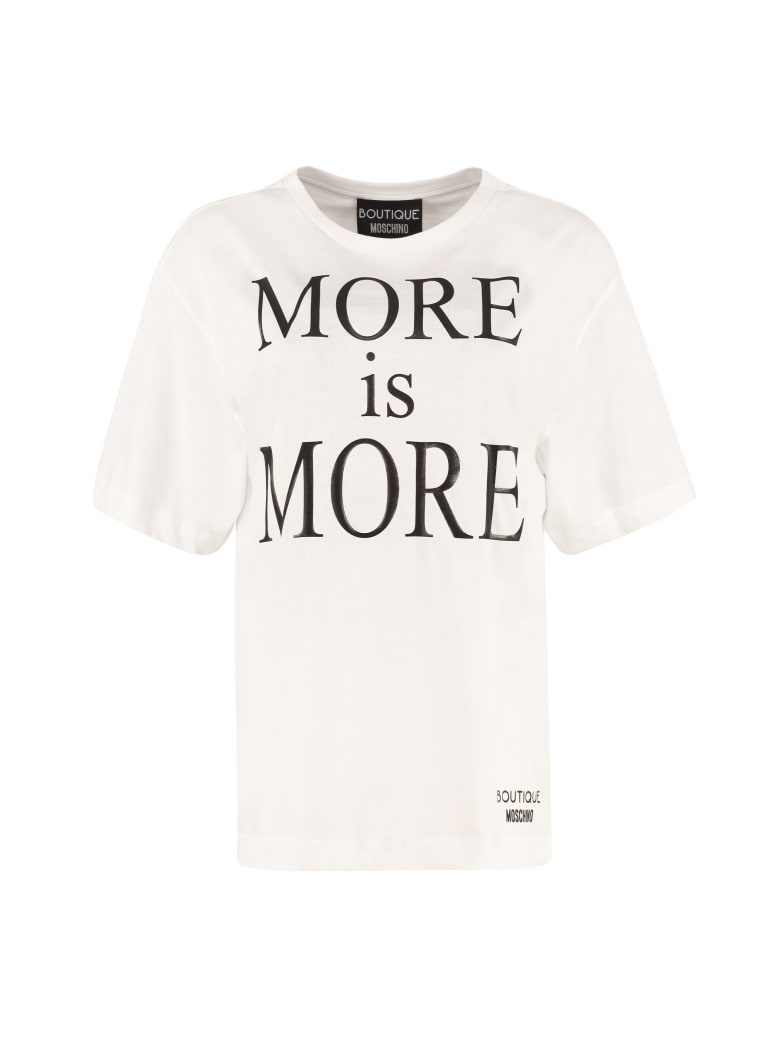 Boutique Moschino Printed Cotton T-shirt - White