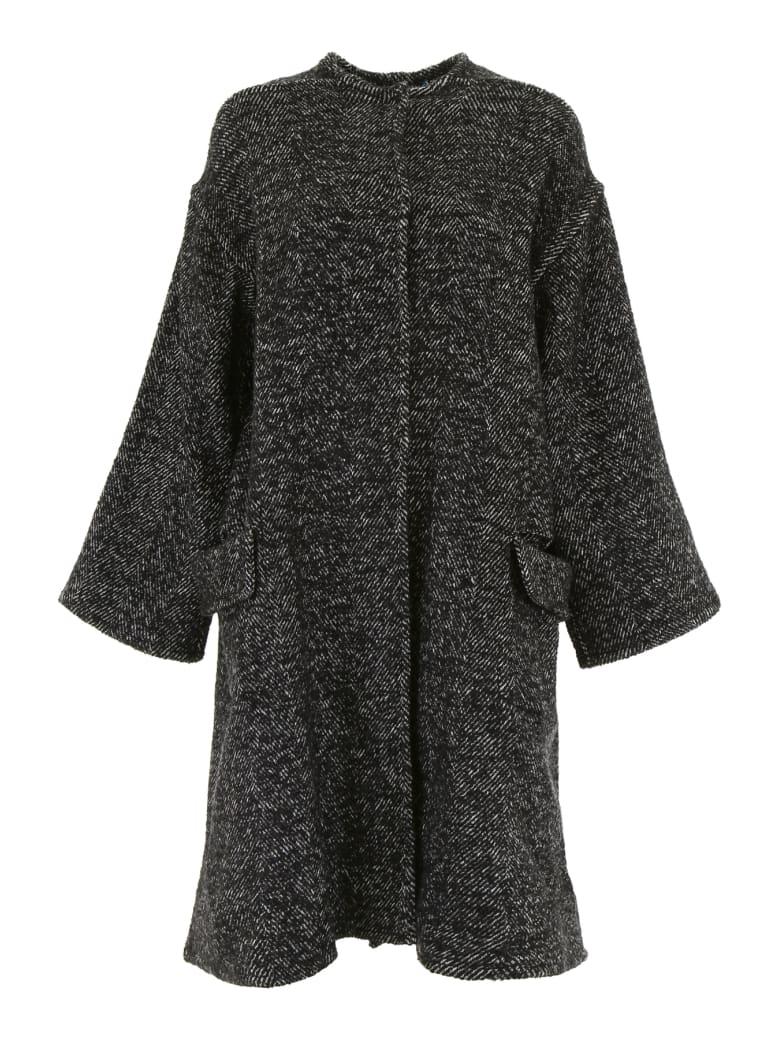 Ava Adore Reversible Coat With Mink - NERO BIANCO (Black)