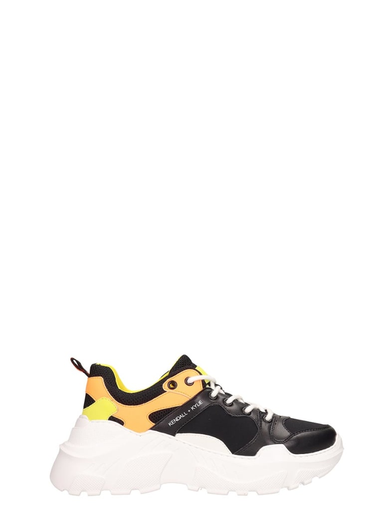 Kendall + Kylie Black Technical Fabric Avenue Sneakers - black