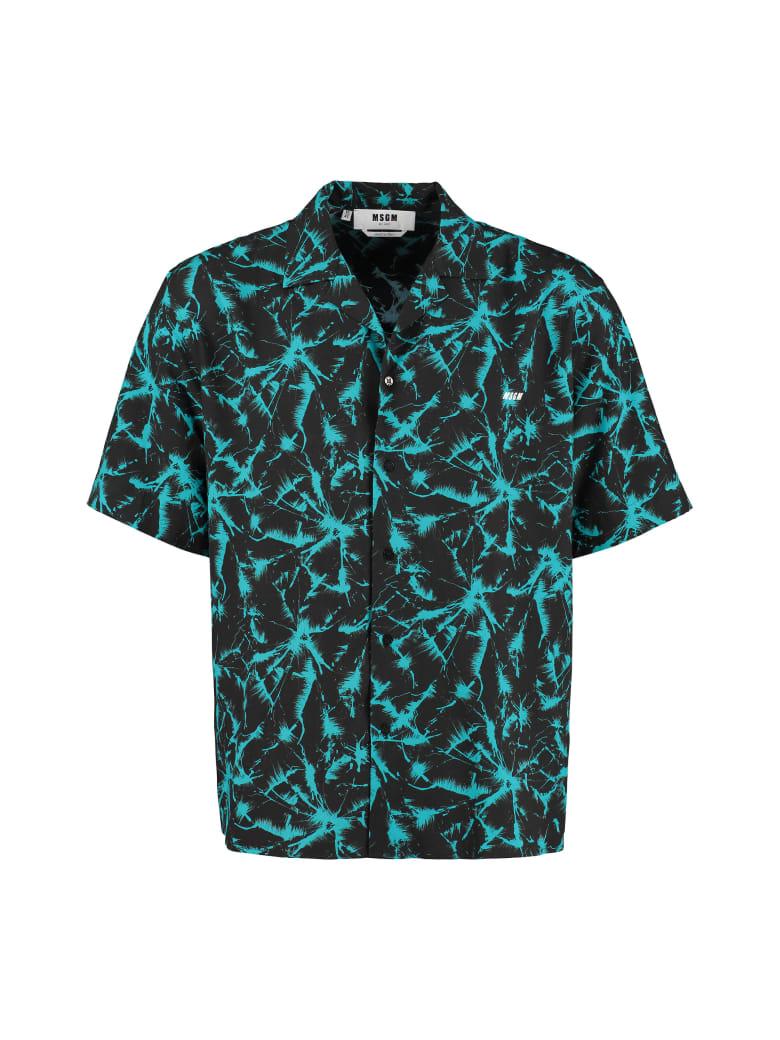 MSGM Printed Short Sleeve Shirt - Multicolor