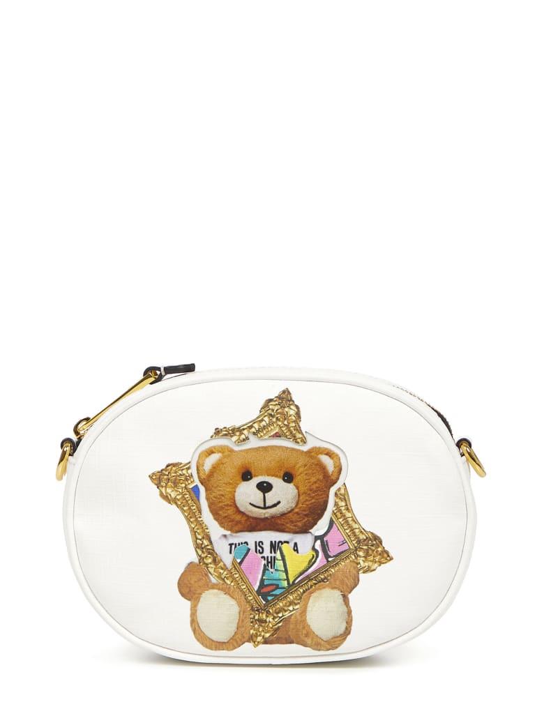 Moschino Frame Teddy Bear Belt Bag - White