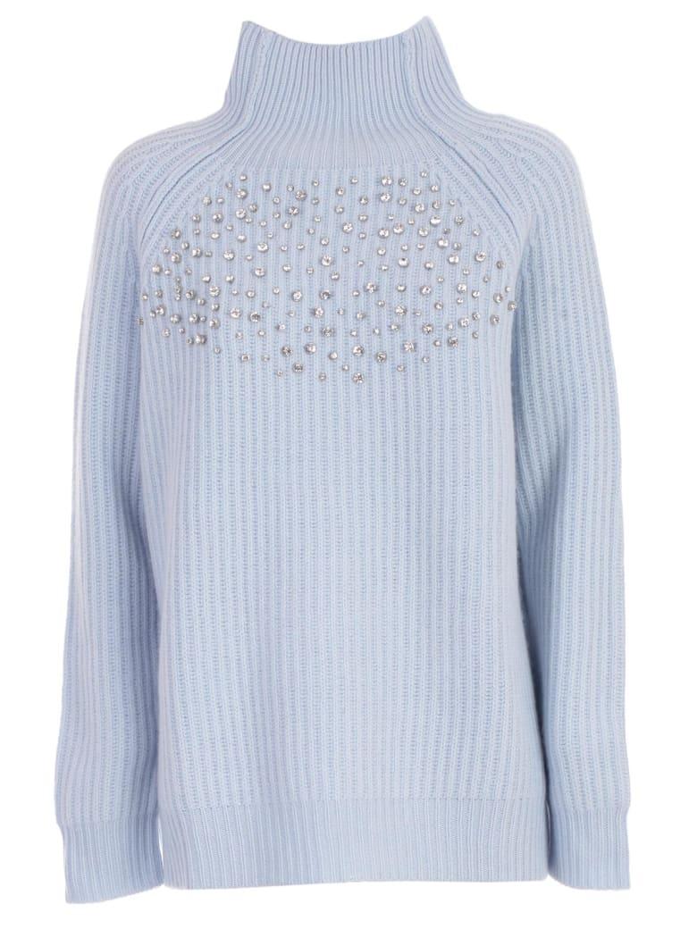 Be Blumarine Sweater L/s High Neck W/ribs - Celeste