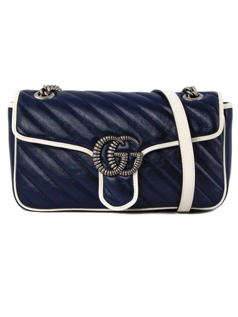 Gucci Gg Marmont Blue Shoulder Bag - blue