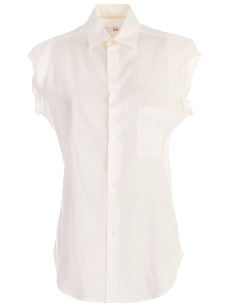 Y's Capped Sleeve Shirt - White